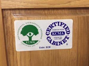 Bertch Bath KCMA Label | Who Made My Cabinets?