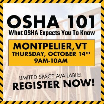 OSHA 101 Montpelier Event Feat Img. | OSHA 101: WHAT OSHA EXPECTS YOU TO KNOW Montpelier