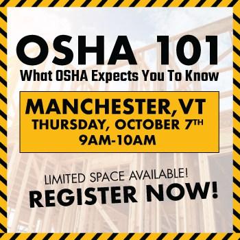 OSHA 101 Web Feat Img Manchester | OSHA 101: WHAT OSHA EXPECTS YOU TO KNOW Manchester